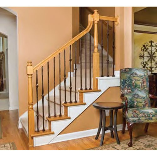 4040 Colonial Newel Post Hickory