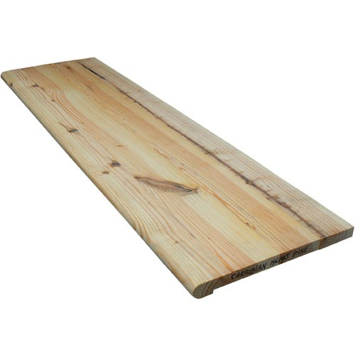 Elegant Caribbean Knotty Heart Pine Stair Tread