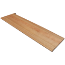 American Cherry Natural (Prefinished Clear) Retro Left Return Stair Tread 42 in