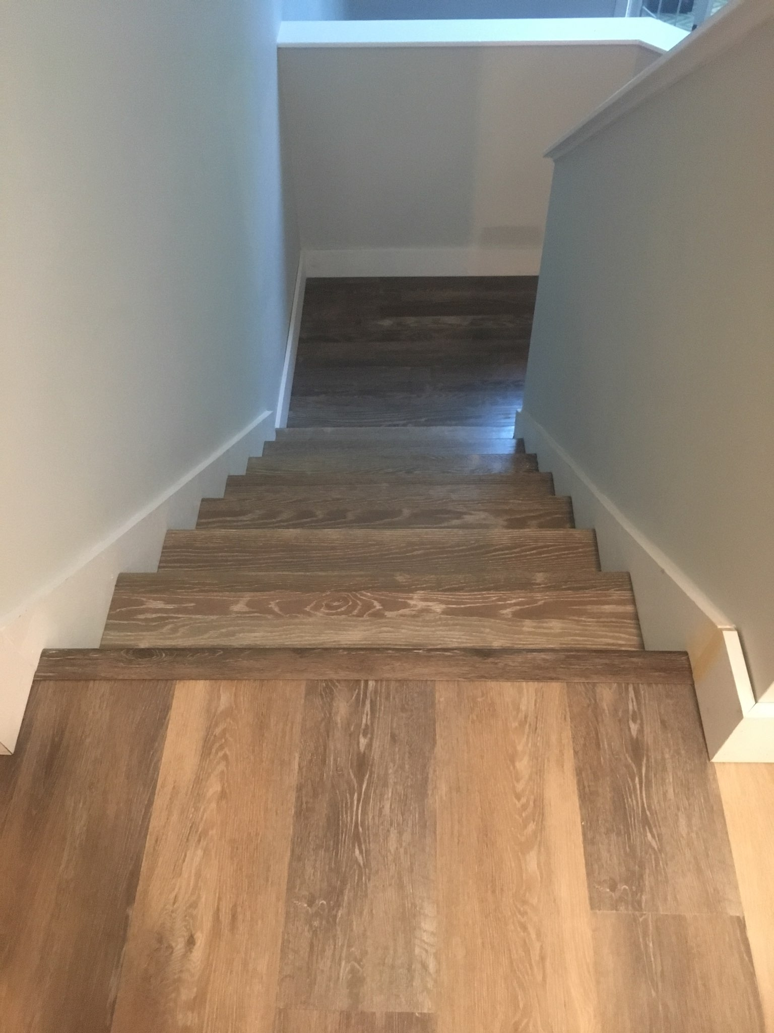 Wire brushed stair treads